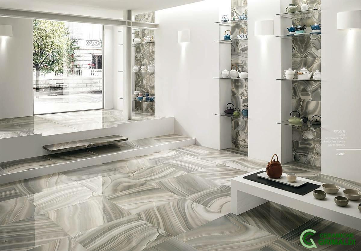 Gres porcellanato effetto pietra agata ceramiche grimaldi - Rivestimento cucina effetto pietra ...